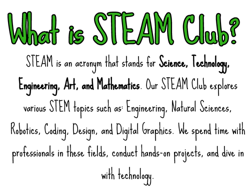 What is STEAM Club?