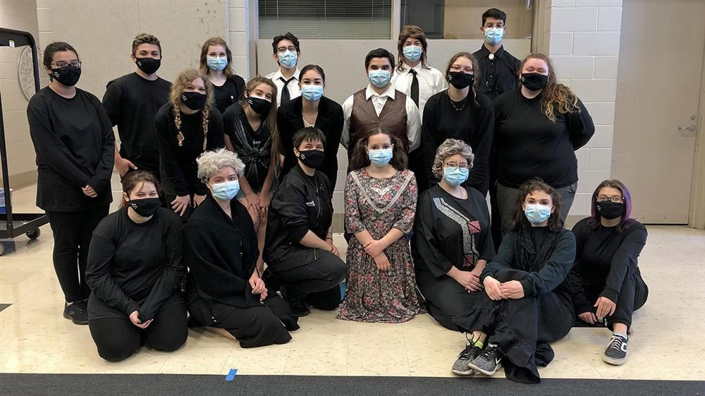 Lake Dallas High School's one-act play program poses for a photo