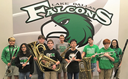 9 MS Band Students in All Region Band