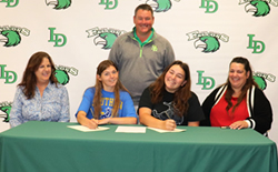 Lady Falcon Golf Celebrates 2 College-Bound Athletes