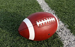 A photo of a football